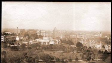 The view south from the Exhibition Building in 1888.