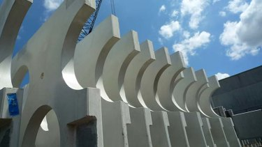 Concrete panels developed by H20 architects.