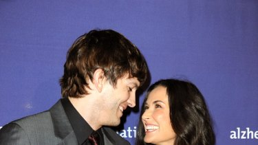 Someone to watch over her ... Demi Moore and Ashton Kutcher.