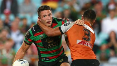 Slammin' Sam: Sam Burgess was outstanding in the loss to the Titans.