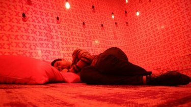 Sleep as art: The Nap Gap installation uses pink noise to help induce sleep.