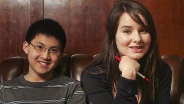 University High students Jin Hooi Tan, Zoe Parkin and Georgia Egan-Griffiths