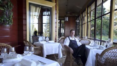 Fresh approach ... new chef Carl Middleton in the Darley's dining room.