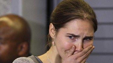 Not guilty ... Amanda Knox.