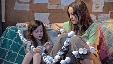 Jacob Tremblay and Brie Larson in <i>Room.</i>