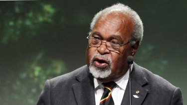 Absent for five months while recovering from heart surgery in Singapore ... Sir Michael Somare.