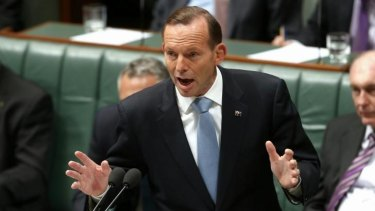 All talk: Mr Abbott has emerged as an ideologue.