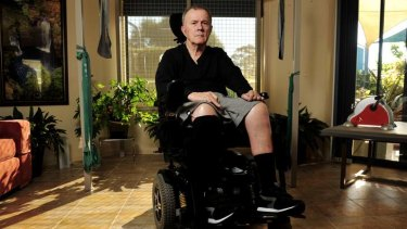 Lud Kerec became a quadriplegic after colliding with another cyclist three years ago.