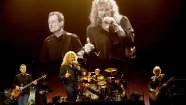 Robert Plant, Jimmy Page, John Paul Jones and Jason Bonham of Led Zeppelin perform in London in 2007.
