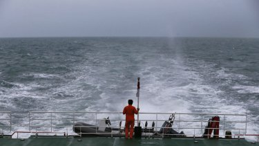 A search operation for the missing AirAsia plane.
