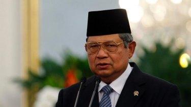 Outgoing Indonesian President Susilo Bambang Yudhoyono.