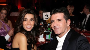 Engaged ... Simon Cowell and fiancee Mezhgan Hussainy.