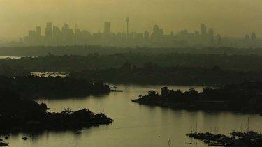Rising ... the Parramatta River.