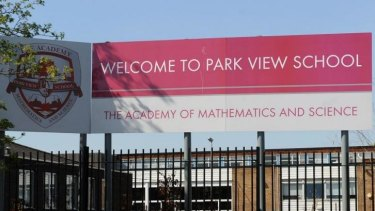 """Park View School in Birmingham. Government inspectors say there is a """"culture of fear and intimidation"""" at several British schools."""