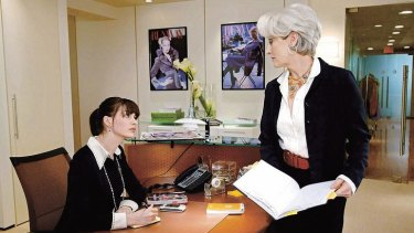 """Master-slave dialectic … Anne Hathaway and Meryl Streep in a scene from 2006's """"The Devil Wears Prada""""."""