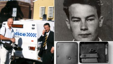 Legacy ... Les Kennedy, pictured with former Herald photographer Bob Pearce, broke stories on stolen arms (bottom) and Ivan Milat (top).