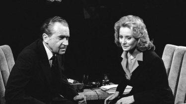 Barbara Walters with Richard Nixon in 1980.