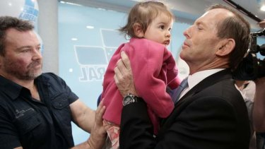 Tony Abbott meets Ashlee  Golding.