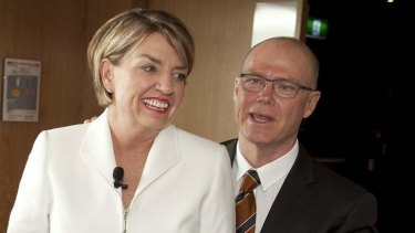 Anna Bligh was premier at the time husband Greg Withers worked as director of climate change.