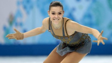 Winner: Russia's Adelina Sotnikova takes gold in the ladies' free skate figure skating finals.
