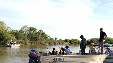 Anna Bligh fishing in Far North Queensland on Saturday, February 25.