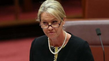 Vanishing act: Assistant Health Minister Fiona Nash and the rating system that was taken offline.