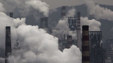 Smokestacks in China.