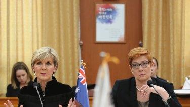Acting Prime Minister Julie Bishop