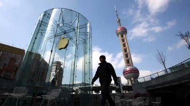 An Apple store in Shanghai, China.