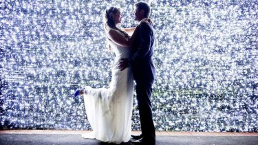 Wedding of Patrick Cormac and Luana Marriot under 500000 lights in Forrest.