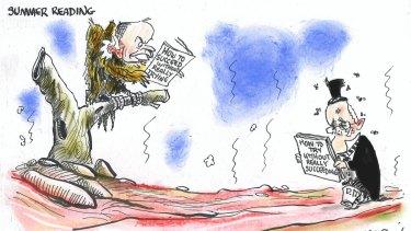 Summer reading cartoon Alan Moir