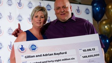 Big cheque ... the happy couple with their winnings.
