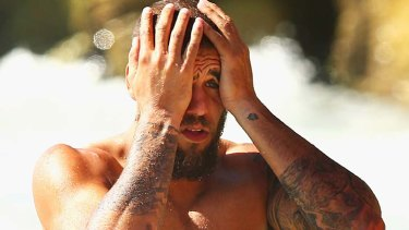 In a spot of bother: Buddy Franklin.