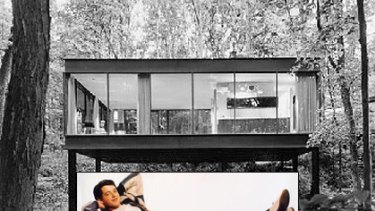 The Ferris Bueller house, on sale for $US2.3 million. (Inset) Matthew Broderick as Ferris Bueller.