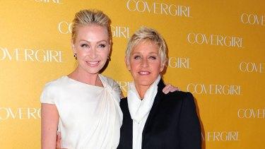 Star vegans...Portia de Rossi and Ellen DeGeneres didn't feel ethically comfortable eating meat.