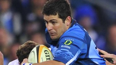 Morne Steyn breaks the Stormers defensive line and broke their fans' hearts with six penalties and one conversion.