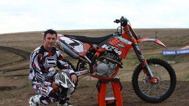 Untimely death ... champion motorcross rider Andrew McFarlane.
