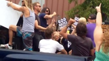 Dave Grohl and the Foo Fighters trolled the Westboro Baptist church protest outside their Kansas City gig.