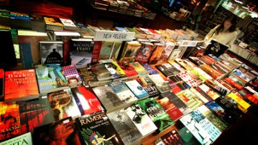 Page turners ... Book lovers can lose themselves in the Lifeline book sale.