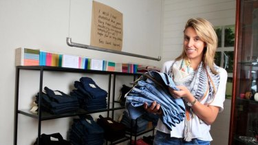 """The International Fashion Group's Jacki Bresic at a Toorak boutique yesterday: """"It is the only way we can compete."""""""
