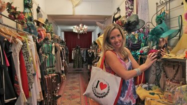 Anti-plastic ... Hanna Marton prefers cash for shopping.