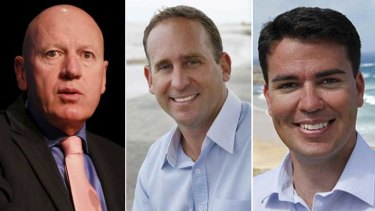 Suspended: Liberal MPs Chris Hartcher, Chris Spence and Darren Webber.