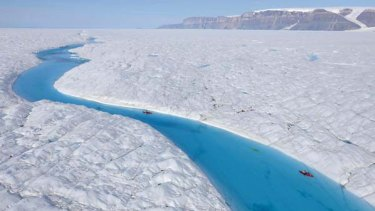 The Petermann glacier, on the north-west coast of Greenland. <i>Picture: AFP</i>