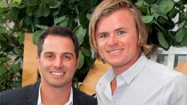 A dishy pair: Matt (left) and Chris Hemsworth's cousin Rob (aka Thor).