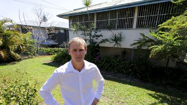 Rod Westerhuis outside the property.