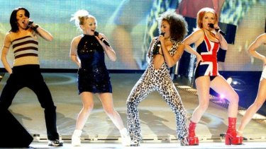 Girl power: Spicing up the 1997 Brit Awards.