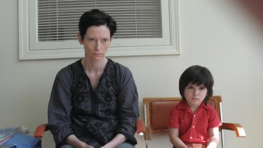 Eva (Tilda Swinton) and son Kevin (Rocky Duer) in a scene from Lynne Ramsay's <i>We Need To Talk About Kevin</i>.