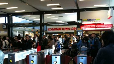 All systems no go ... the scene at Kogaragh station at 8.15am, taken by reader Pattarinee Vongthongsri.