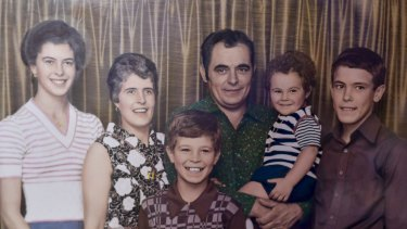 The Comelli family. Father Bruno, centre, died of as a result of exposure to asbestos, said to have come from James Hardie's Brooklyn plant.