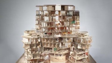 A model to show the interior. The building will house the UTS business school.
